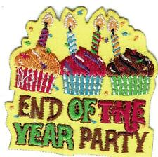 Girl Boy END OF THE YEAR PARTY yellow Event Fun Patches Crests Badge SCOUT GUIDE