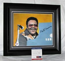 FATS DOMINO SIGNED  FRAMED PSA/DNA CERTIFIED AUTHENTIC