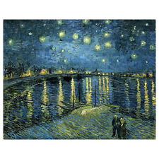 Framed Starry Night Over the Rhone by Van Gogh Canvas Prints Home Wall Decor Art