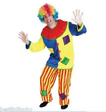 men Vintage Circus clown costume Joker set Fancy Dress outfit Apparel Masquerade