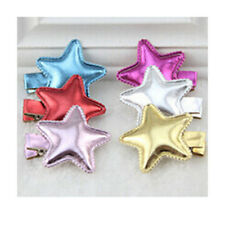 5 X Cute Star Shaped Colorful Clips