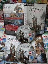 PC CD-Rom:Assassin's Creed III [TOP UBI SOFT / 1ERE EDITION] COMPLET - Fr