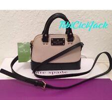 NWT Kate Spade Mini Rachelle Wellesley Pebble & Black Crossbody Bag Handbag
