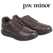 P.W. Minor Embrace Leather Lace-Up Walking Shoes - Brown - Women's 5.5XW