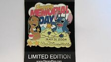 Disney World 2004 Lilo & Stitch Happy Memorial Day Pin - Limited Edition of 3500