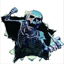 Car Sticker 3D Skull Skeleton Auto Hoods Rear Trunk Thriller Reflective Decal