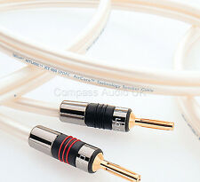 2 x 2.5m QED X-TUBE XT 400 SPOFC Speaker Cable Terminated AIRLOC Forte Plugs