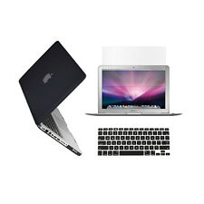 "3 in 1 Rubberized BLACK Case for Macbook PRO 13"" + Keyboard Cover + LCD Screen"