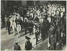 Italo Balbo nelle funerali del Conte Carlo Del Prete Vintage . Tirage posterieur