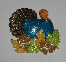 TURKEY Pin Brooch Thanksgiving Animal New Leaves Fall Feathers Waddle