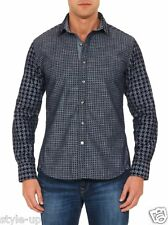 Robert Graham Spectacular Houndstooth Chambray Casual Shirt XL $328 NEW