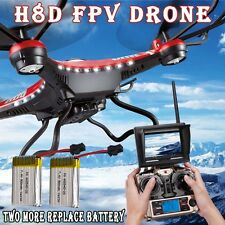 FPV JJRC H8D 6-Axis Gyro RC Quadcopter Drone 5.8G HD Camera + Monitor +2 Battery