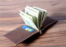 Leather Money Clip Wallet Handmade Leather Wallets for Men - Women's Wallets