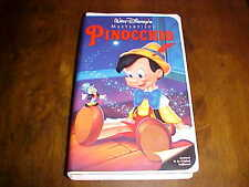 Disney's PINOCCHIO (VHS, Clamshell Cover) **Like New**