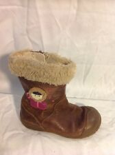 Girls Clarks Brown Leather Boots Size 6.5G