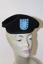 NEW U.S. Army Black Wool Beret Size 6 1/2 With Flash