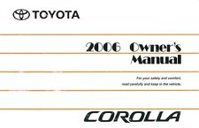 2006 Toyota Corolla Owners Manual User Guide Reference Operator Book Fuses Fluid