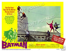 BATMAN LOBBY SCENE CARD # 7 POSTER 1966 ADAM WEST BURT WARD CESAR ROMERO JOKER
