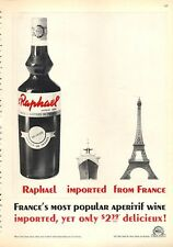 1963 Raphael Aperitif Wine Vintage Bottle From France PRINT AD
