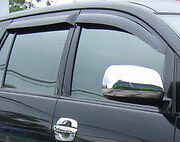 BLACK VISOR WEATHER GUARDS WINDSHIELD FOR TOYOTA INNOVA 2010-2013 V.1