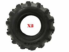 Set of TWO 4.10-6 AG Tread Tires 90/90-6 Go Cart Tiller Snow Blower Mini Bike