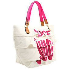 Juicy Couture Beach White Terry Choose Juicy Ruffle Extra Large Tote NWOT $178
