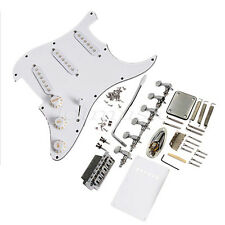 Guitar Loaded Pickguard Bridge knobs Set for Stratocaster Guitar Parts White