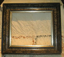 Beautiful antique wood gesso gilt picture frame faux marble paint 17 x 14.5 inch