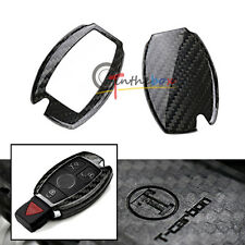 Carbon Fiber Remote Smart Key Fob Holder Cover For Mercedes C E S M GLK Class