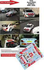 DÉCALS 1/18 réf 1026 Citroen Xsara WRC  SORDO Rallye Monte Carlo 2006