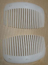 """DIY 6 WHITE Clear Plastic Double Combs 4""""x2.5 teeth hair for 3 sets MAKE"""