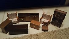 Vintage 1986 Maple Town / Calico Critters Toy Furniture Lot 8 Pieces LOOK!