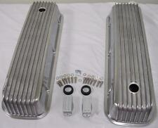 Big Block Chevy Polished Aluminum Valve Covers Tall Finned 396 454 496 502 BBC