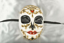 Day of the Dead Venetian Masquerade Mask for Halloween - Volto Morte