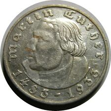 elf Germany 2 Mark 1933 D  Martin Luther