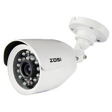 ZOSI 1/3 CMOS 800TVL CCTV Outdoor Security Camera White Bullet 20M IR 4.6mm Lens
