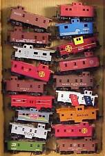 ***(T13) Box Lot Of 18 HO Cabooses With Missing Or Broken Parts