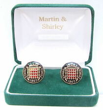 1957 Threepence cufflinks from real coins Black & Gold