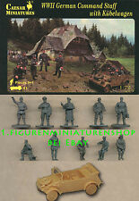 1:72 FIGUREN H095 WWII GERMAN COMMAND STAFF WITH KÜBELWAGEN - CAESAR NEU