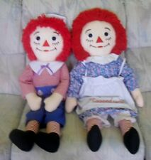 """RAGGEDY ANN and ANDY Rag Dolls Pair Large 36"""" 1991 Applause by Johnny Gruelle"""