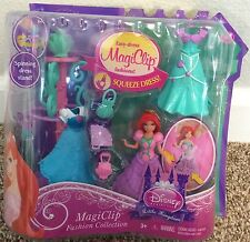 Disney Princess MagiClip Little Mermaid Ariel with Spinning Dress Stand HTF NIP