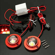 2x High Power Red Car Motorcycle LED Decorative Strobe Flash Brake Tail Light