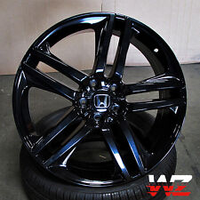 "20"" Honda Wheels Gloss Black Fits Accord Ex Lx Coupe Sedan 5 Lug Civic 5x114.3"