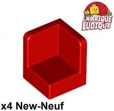 Lego - 4x Panel Panneau 1x1x1 Corner Coin rouge/red 6231 NEUF