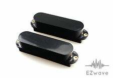 2 x Closed Black Single Coil Sized Humbucker Pickup Cover for Strat Guitar
