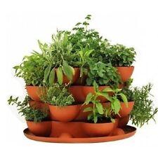 Terracotta Flower Pots Garden Planters Self Watering Stackable Indoor Outdoor