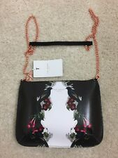 New Ted Baker EVRA Bejewelled Shadows Leather Cross body Bag Black Retail $ 198