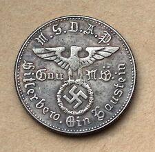 ADOLF HITLER  GERMAN EXONUMIA  REICHSMARK SPENDE COIN THIRD REICH  WW2 ..