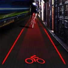 2 Laser+5 LED Flashing Rear Bike Bicycle Tail Light Lamp Beam Safety Warning MC