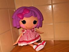 """Purple Hair 2009 Lalaloopsy 14"""" Full Size Doll Pink/Wht. Plaid Dress REDUCED"""